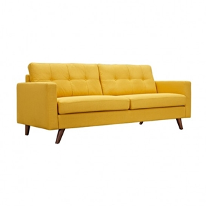 Long Yellow Sofa